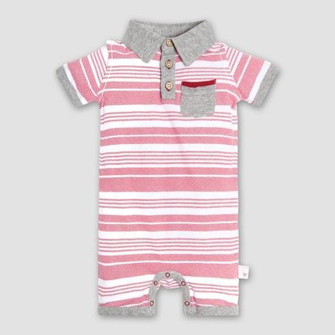 f98c265d35da Burt s Bees Baby® Boys  Organic Cotton Faux Twill Shortall - Red ...