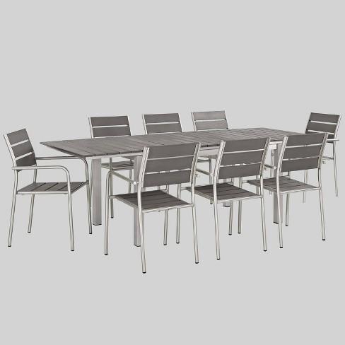 Gray Aluminum Patio Dining Sets