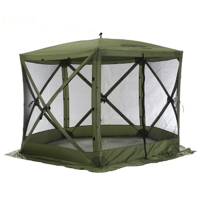 Clam Corp Portable Spacious QuickSet Venture Screen Shelter Canopy Pop Up Water Resistant Tent with Mosquito Mesh, Green and Black