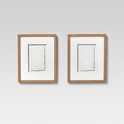 Framed Textured Wall Print Off White 17 x10.5  2pk - Project 62™