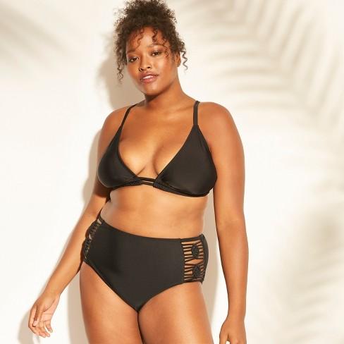 cc1d7baaab0 Women s Plus Size Macrame Back Triangle Bikini Top - Xhilaration ...