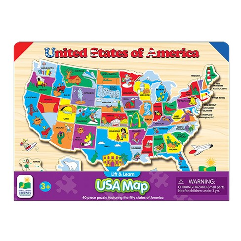The Learning Journey Lift & Learn USA Map Puzzle, 40pc