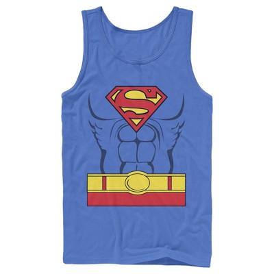 Men's Superman Hero Costume Tank Top