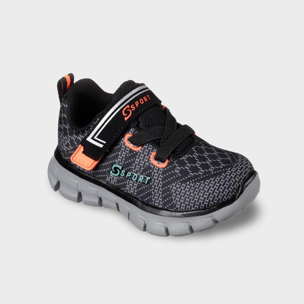 Toddler Boys' S Sport by Skechers Tmesis Athletic Shoes - Black/Orange 7, Boy's, Black Gray Orange