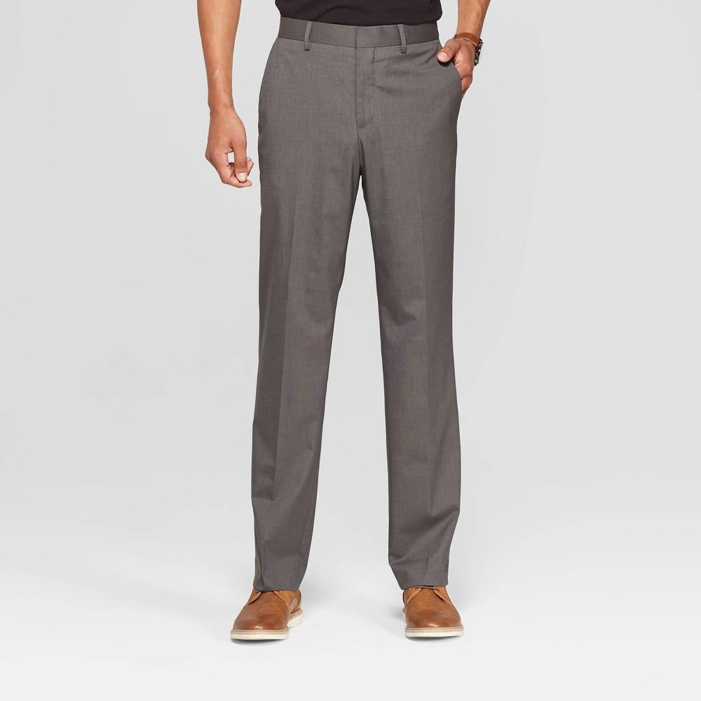 Men's 34 Standard Fit Suit Pants - Goodfellow & Co Charcoal (Grey) 38x34