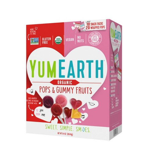 Yum Earth Organic Valentine's Day Pops & Gummy Fruits - 30ct/9.4oz - image 1 of 1