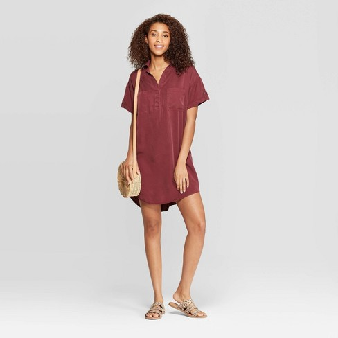 Women's Short Sleeve Collared At Knee Shirtdress - Universal Thread™ - image 1 of 3