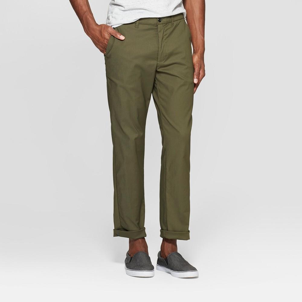 Men's Tech Chino Pants - Goodfellow & Co Late Night Green 33x30