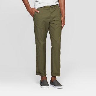 Men's Tech Chino Pants - Goodfellow & Co™ Late Night Green 32x32