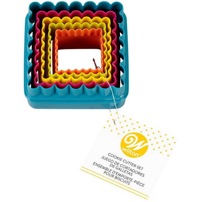Wilton 5ct Square Cookie Cutter Set - image 1 of 2
