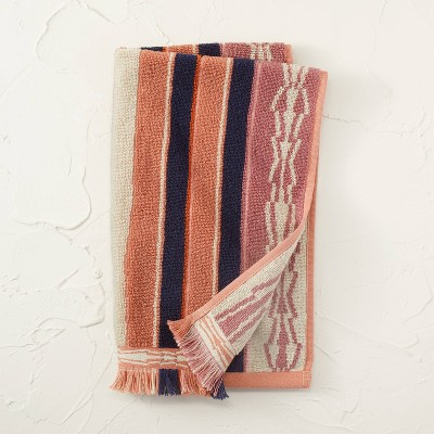 Jacquard Striped Hand Towel Rose - Opalhouse™ designed with Jungalow™