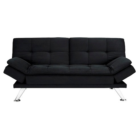 Premium Bailey Futon Black Dorel Home Products