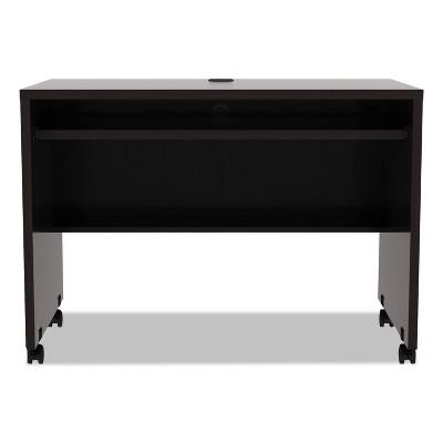 Alera Valencia Series Mobile Workstation Desk, 41 3/8 x 23 5/8x 29 5/8, Espresso VA204224ES