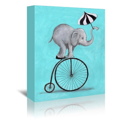Americanflat Elephant With Umbrella By Coco De Paris 8 X10 Target