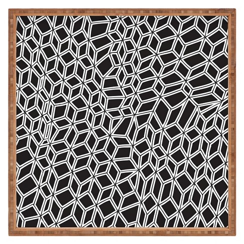 Gneural Compression Square Tray - Black and White - Deny Designs® - image 1 of 1