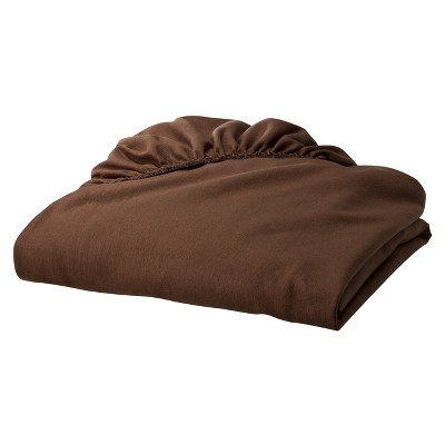 TL Care Jersey Cotton Fitted Crib Sheet - Brown