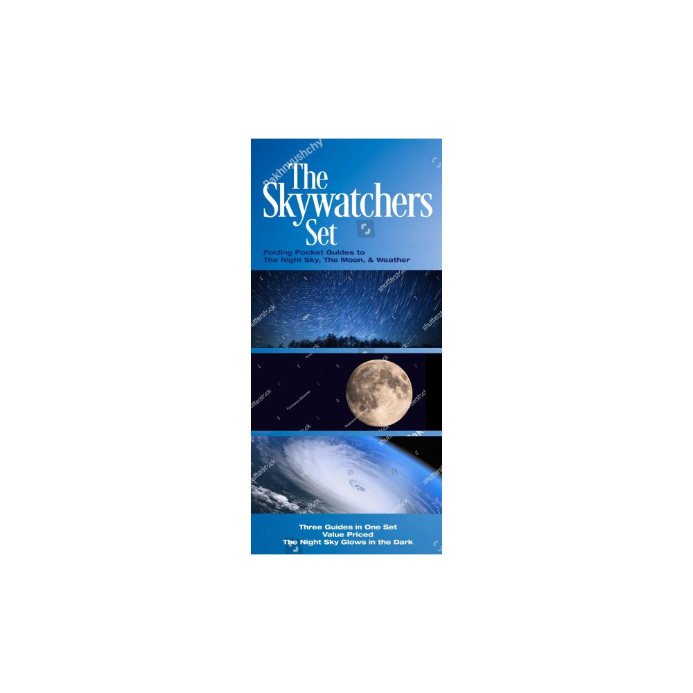 Skywatchers : Folding Pocket Guides to the Night Sky, the Moon and Weather - Chrt (Paperback)
