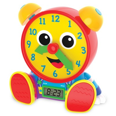 The Learning Journey Telly Jr. Teaching Time Clock Primary Color