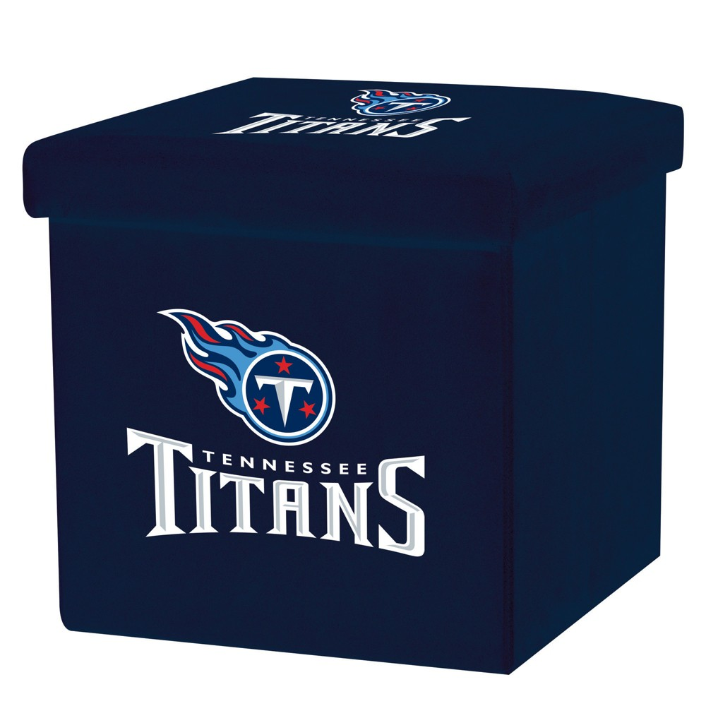 NFL Franklin Sports Tennessee Titans Storage Ottoman with Detachable Lid