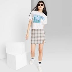 Women's Plaid Mini Skirt - Wild Fable™ Black