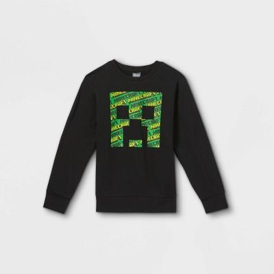 Boys' Minecraft Pullover Sweatshirt - Black