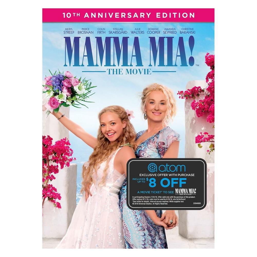 Mamma Mia! The Movie + Atom Tickets Offer (Dvd)