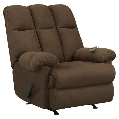 Lacy Padded Massage Recliner Chocolate (with Controller) - Dorel Living
