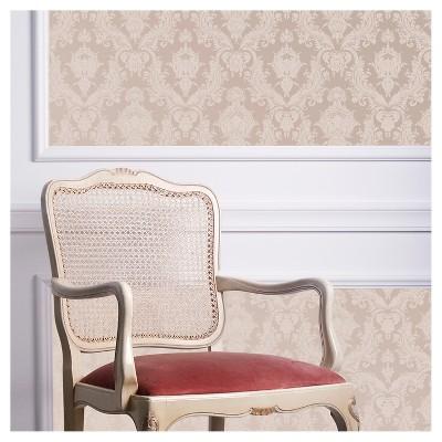 Tempaper Textured Damsel Self-Adhesive Removable Wallpaper Light Brown