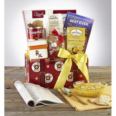 1-800-Baskets Get Well Gift Basket with Campbell's Chicken Noodle Soup and Lemon Tea - Deluxe