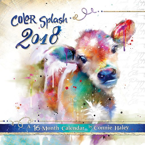 2018 Color Splash Connie Haley Wall Calendar - Trends International - image 1 of 4