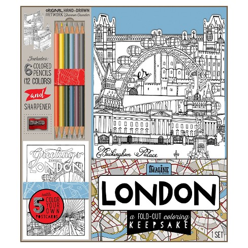 Bendon Adult Coloring Book Kit London Target