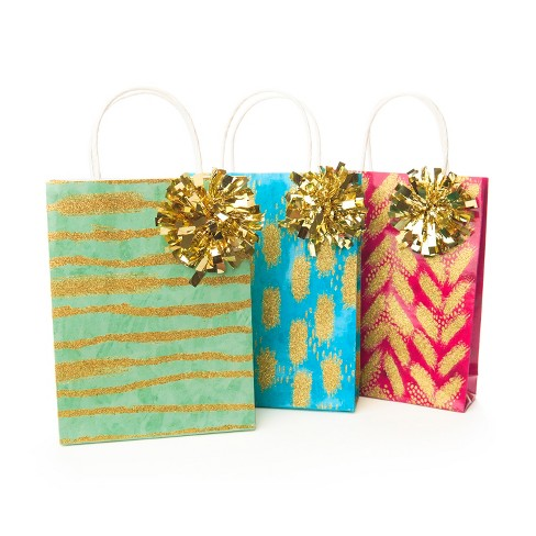 Paper Magic 3ct Gold Bag Gift Card Holder - image 1 of 1