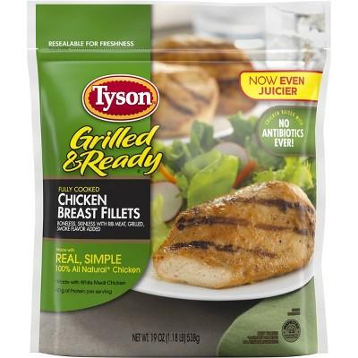 Tyson Grilled & Ready Chicken Breast Fillets - Frozen - 19oz