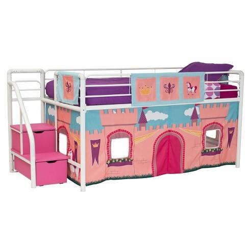 Princess Castle Curtain Set For Loft Bed Pink Target
