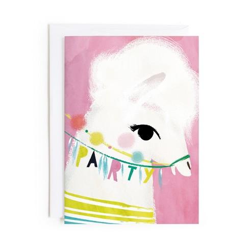 Minted Llama Birthday Card Target