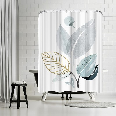 "Americanflat Forest Friends by Modern Tropical 71"" x 74"" Shower Curtain"