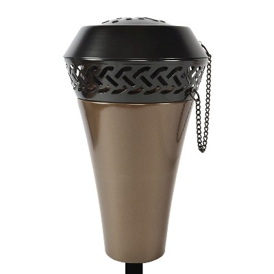 66  Island King Large Flame Torch - Gunmetal Finish - TIKI®