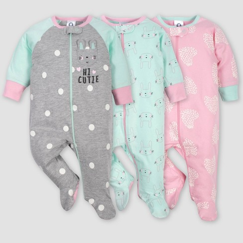Gerber Baby Girls Toddler Sleepers