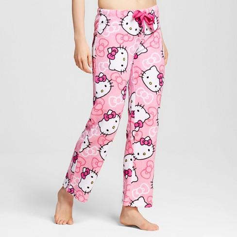 5ecc6a901 Women s Hello Kitty Plush Pajama Pants - Pink S   Target