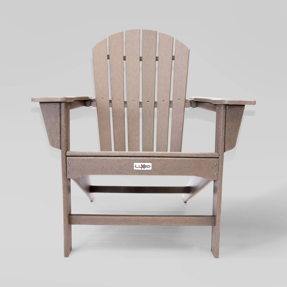 Image of Hampton Weather Patio Adirondack Chair Wood - LuXeo
