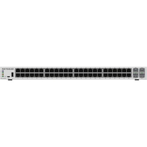 Netgear Insight Managed Smart Cloud Switch - 52 Ports - Manageable - 3 Layer Supported - Twisted Pair, Optical Fiber - Rack-mountable, Desktop - image 1 of 4