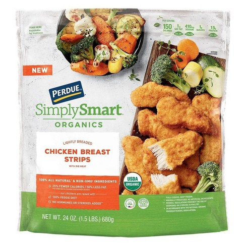 Perdue Simply Smart Organics Lightly Breaded Chicken Breast Strips - Frozen - 24oz - image 1 of 3