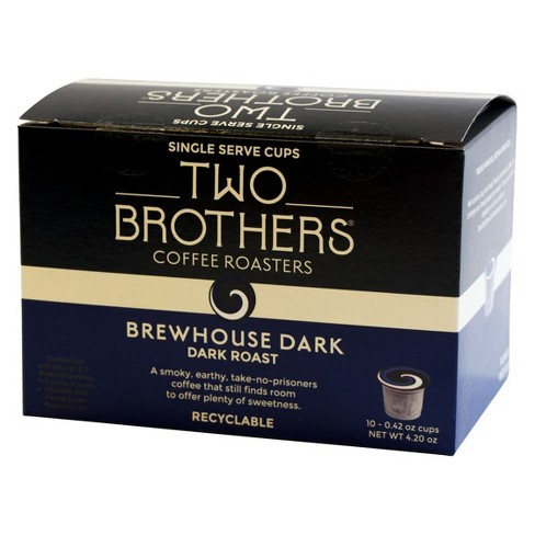 Two Brothers Brewhouse Dark Roast Coffee - Keurig K-Cup Pods - 10ct - image 1 of 1
