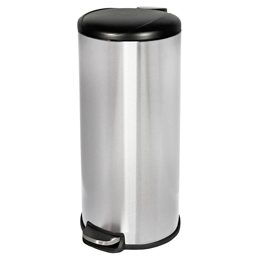 30 L Trash Can With Lid - Room Essentials, Silver