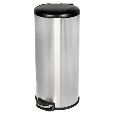 Beau 30 Liter Step On Trash Can   Stainless Steel     Room Essentials™
