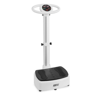 Hurtle HURVBTR63 Standing Oscillating Vibration Platform Full Body Exercise and Fitness Machine Home Workout Trainer with Adjustable Settings, White