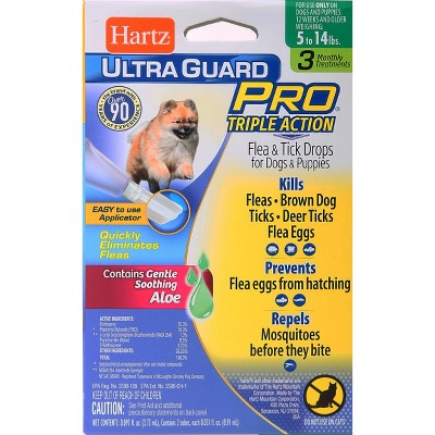 Hartz UltraGuard Pro Flea and Tick Treatment Drops for Dogs and Puppies - 3ct