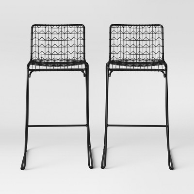 Set Of 2 Oster Wire Barstool Black - Project 62™