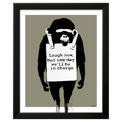 In Charge Monkey Framed Art Print - image 1 of 3