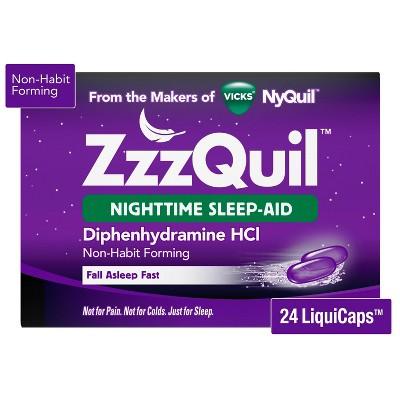 ZzzQuil Nighttime Sleep-Aid LiquiCaps - Diphenhydramine HCl